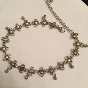 """Jewelry - 8 1/2""""  Boho flower ankle bracelet with beads New"""